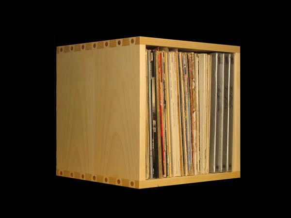 record album storage cube