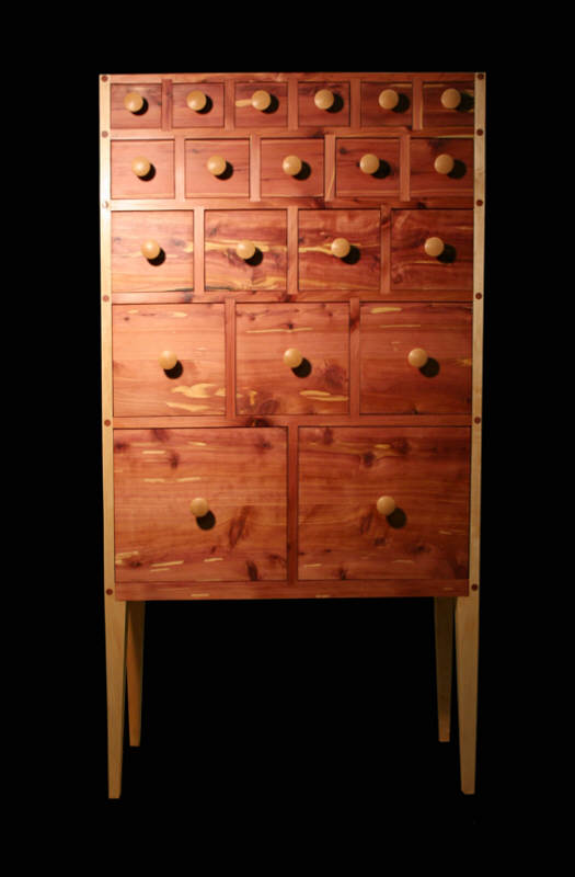 20 Drawer Modern Apothecary Chest
